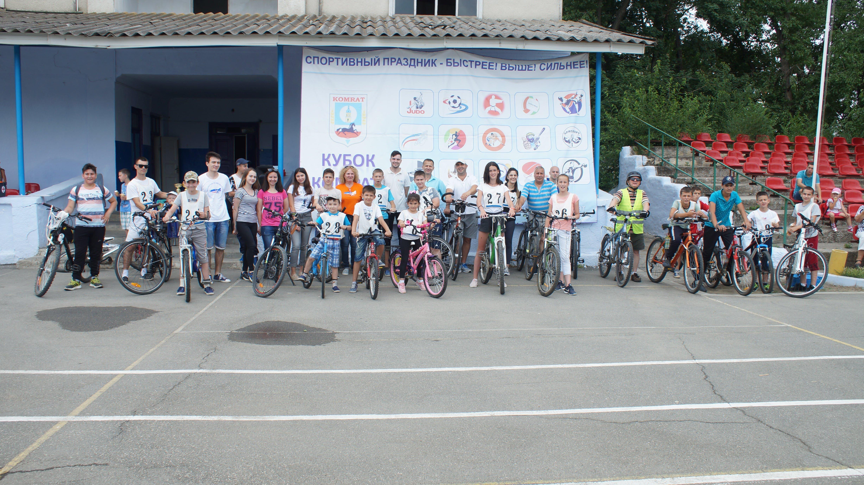 В Комрате прошли первые велогонки