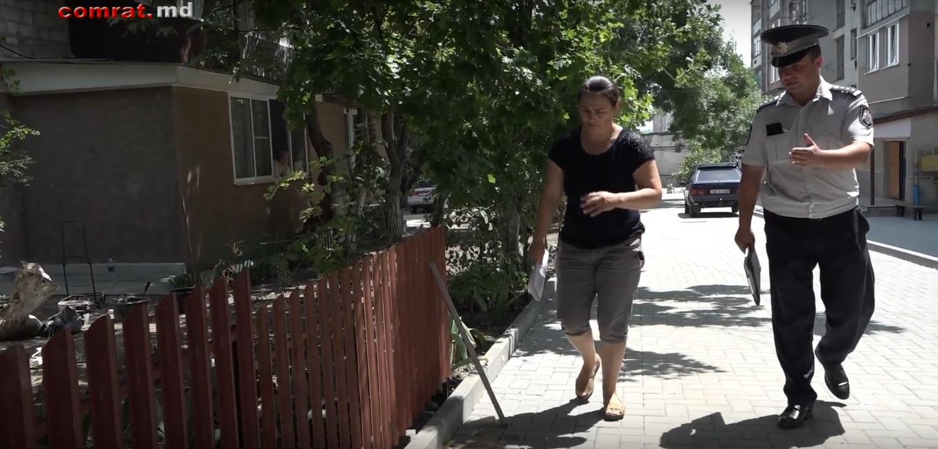 Пресечена незаконная установка ограждения для палисадника во дворе домов по ул.Третьякова-Пушкина  м.Комрат